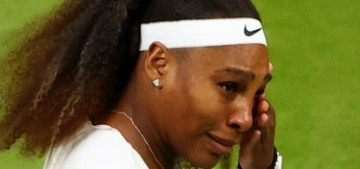 Serena Williams 'retires' from her first-round Wimbledon match after slipping on court