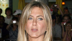 Did Jennifer Aniston cry on set when a scene reminded her of her ex?