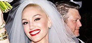 Gwen Stefani wore two custom Vera Wang gowns at her Oklahoma wedding