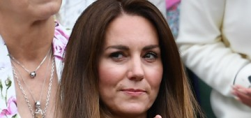 Duchess Kate was keen in green in a $1525 Emilia Wickstead at Wimbledon