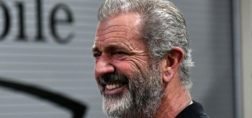 Mel Gibson saluted Donald Trump at the UFC fight over the weekend