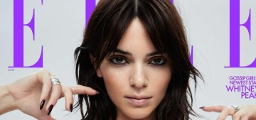 Kendall Jenner reveals a choppy, layered haircut on Elle: cute & '90s?