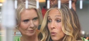 SJP, Kristin Davis & Cynthia Nixon are filming 'And Just Like That' in NYC