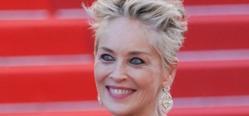 Sharon Stone wore a giant Dolce & Gabbana ballgown in Cannes: yikes or okay?