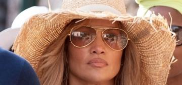 Jennifer Lopez & Ben Affleck got pap'd as they strolled the streets of Capri