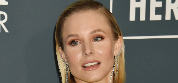 Kristen Bell says she doesn't bathe her children until they smell bad