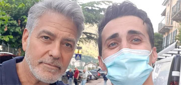 George Clooney's Italian neighbors are grateful for his help with flood recovery