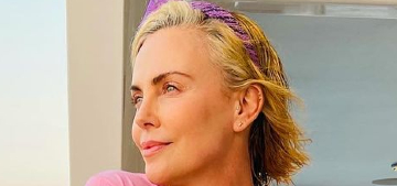 Charlize Theron had an 80s prom murder mystery cruise party for her 46th b-day