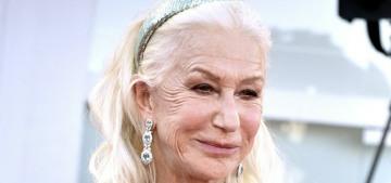 Helen Mirren in D&G at the Venice Film Festival: glamorous or prissy?