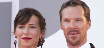 Benedict Cumberbatch & Sophie Hunter attend Venice 'Power of the Dog' premiere