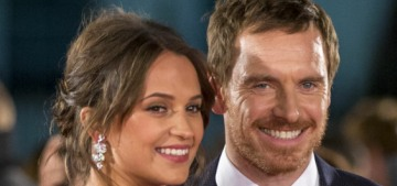 Alicia Vikander confirms that she & Michael Fassbender welcomed a Fassbaby