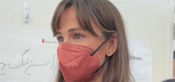 Jennifer Garner reveals her eligible kids are vaxxed & she visited a refugee center