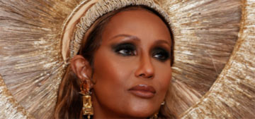 Iman in Harris Reed at the Met Gala: stole the show?