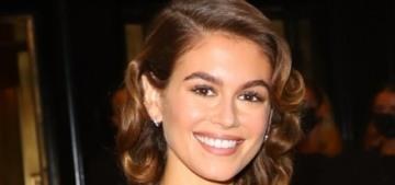 Kaia Gerber in Oscar de la Renta at the Met Gala: delicate & lovely?