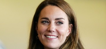 Duchess Kate wore a new Reiss blazer for her first event in more than two months