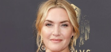 Kate Winslet wore Armani & won for 'Mare of Easttown' at the 2021 Emmys