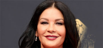 Catherine Zeta-Jones in Cristina Ottaviano at the Emmys: lovely and glam?