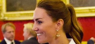 Duchess Kate wore Self Portrait for a reception to celebrate 'Hold Still'