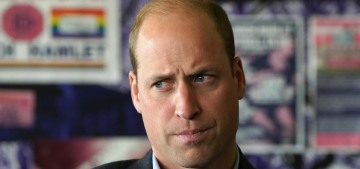 Prince William also had an event yesterday, you guys!  It involved football!