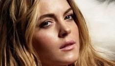 Lindsay Lohan's cracked-out stink-eye for 6126 leggings ads