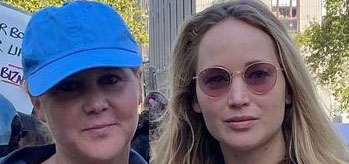 Amy Schumer and pregnant Jennifer Lawrence were at the women's march in DC