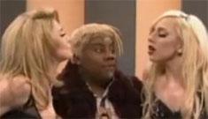 Madonna & Lady Gaga play-fight on SNL