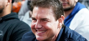 Tom Cruise looked surprisingly puffy at a weekend baseball game