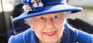 Queen Elizabeth, 95, used a walking cane at Westminster today 'for comfort'