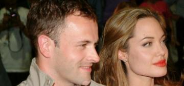Angelina Jolie & Jonny Lee Miller went to dinner last night in Beverly Hills