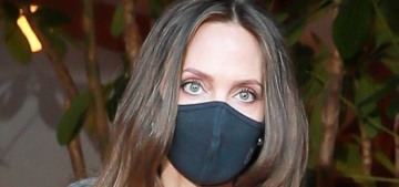 Angelina Jolie wore a perfect slouchy sweater for a book signing in LA