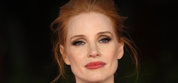 Jessica Chastain in Gucci at the Rome 'Tammy Faye' premiere: totally awful?