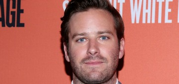 Armie Hammer is still in rehab, where he's 'thriving' & he doesn't want to leave