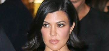 Kourtney Kardashian 'freaked out' & acted 'bratty' in business class on a flight