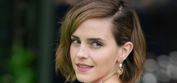 Emma Watson wore an upcycled wedding gown to the Earthshot Awards