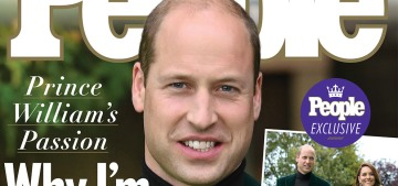 Prince William gave an exclusive interview to People Magazine for Keenshot