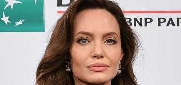 Angelina Jolie wore Versace & Ralph Lauren to 'The Eternals' Rome promotion