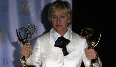 Ellen DeGeneres crosses the picket line