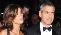 George Clooney & Elisabetta take London for 'The Fantastic Mr. Fox'
