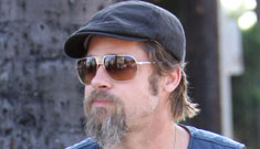 Brad Pitt gets into a weird motorcycle accident