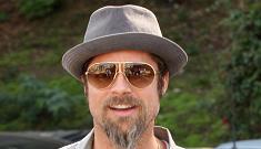 Brad Pitt trades in his newsboy cap for a fedora