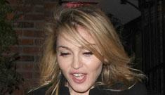 Madonna gets her drink on while Jesus works