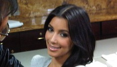Kim Kardashian gets punched for charity (update: black eye pics)