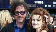 Tim Burton & Helena Bonham Carter have a slime ball Christmas tree