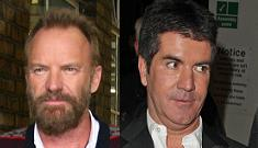 Battle of the aging overpaid douches: Sting vs. Simon Cowell