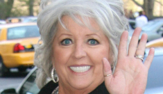"""Paula Deen is """"okay"""" after getting hit in the face with rogue ham"""