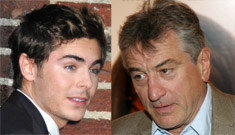 Zac Efron to Robert DeNiro in the men's room: 'I love your work'
