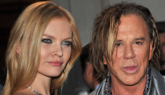 Mickey Rourke got engaged to his 24-year-old Russian girlfriend