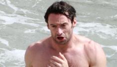 Hugh Jackman's awesome shirtless beach workout