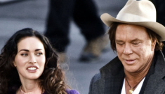 Is Megan Fox trying to get her claws into Mickey Rourke?