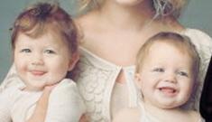 """Rebecca Romijn unveils her adorable twin girls in """"Got Milk?"""" ad"""